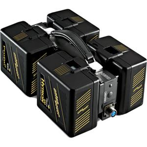 Lovable QBH-HD Quad Battery Holder, Handles any 4 Gold Mount Type Batteries with same Voltage Input Product photo