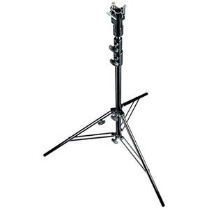 Learn more about 10.3' Aluminum Cine Lightstand, 3 Section, with Leveling Leg, Black Anodized Product photo