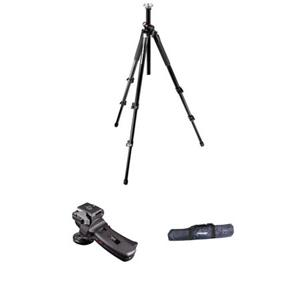Design 055XP3 Black Tripod Kit with 322RC2 Grip Action Ball Quick Release Head & Tripod Case Product photo