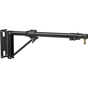 "Information about Short Wall Boom with Variable Length from 30.8"" to 48"", Black Product photo"