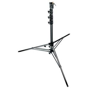 "Check out the 15'9"" Black Super Stand with 4-Sections, 3 Risers, & a Levelling Leg, Supports up to 77 lb. Product photo"