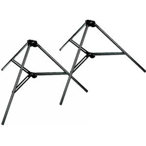 Best-selling 032BASEBSET Free Standing Bases for Auto-Poles, Set of 2, Black (#5994B) Product photo