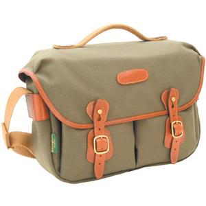 Superb-quality Hadley Pro, Small SLR Camera System Shoulder Bag, Sage with Tan Leather Trim. Product photo