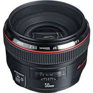 Purchase EF 50mm f/1.2L USM Ultra-Fast Standard AutoFocus Lens, USA Product photo