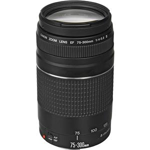 Affordable EF 75-300mm F/4-5.6 III Autofocus Telephoto Zoom Lens - USA Product photo