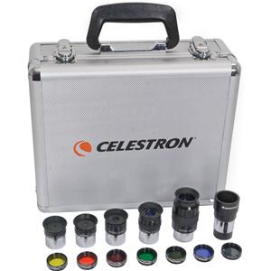 """Select Accessory Kit with 5-1.25"""" Plossls, 1.25"""" 2x Barlow & 1.25"""" Filter Set. Product photo"""