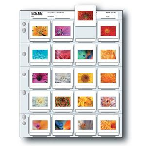 """Tasteful 35mm Slide Pages Holds Twenty 2x2"""" Mounted Transparencies, Top Loading, Pack of 500 Product photo"""