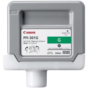 Trustworthy PFI-301G Green Ink Tank for the imagePROGRAF iPF8000 and iPF9000 Inkjet Printers, 330 ml. Product photo
