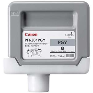 Precious PFI-301PGY Photo Gray Ink Tank for the imagePROGRAF iPF8000 and iPF9000 Inkjet Printers, 330 ml. Product photo