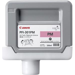 Valuable PFI-301PM Photo Magenta Ink Tank for the imagePROGRAF iPF8000 and iPF9000 Inkjet Printers, 330 ml. Product photo