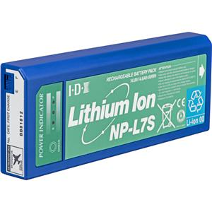 View NP-L7S NP Style Lithium-ion Battery with 3 L.E.D. Power Indicator, 14.6 Volts, 4.6Ah. Product photo