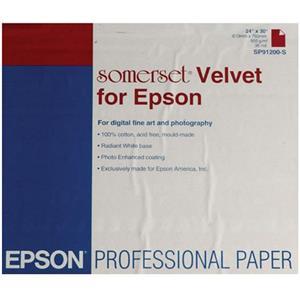 """Optimal Somerset Velvet Fine Art Matte Inkjet Paper, 36 mil., 505 gsm., 24x30"""", 20 Sheets. Product photo"""