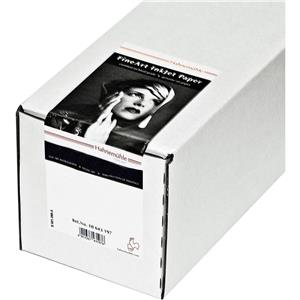 """Unique Fine Art Pearl, Fiber Based, Bright, Bright White Inkjet Paper, 285gsm, 17""""x39' Roll with 3&quo Product photo"""