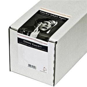 "Design Pearl Photo Rag, 100 % Cotton Rag, Natural White Inkjet Paper, 320 g/mA, 17""x39' Roll with 3&qu Product photo"