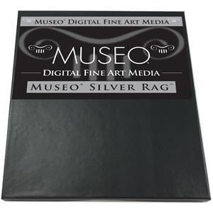 "Excellent Silver Rag, Archival Fine Art Gloss Inkjet Paper, 300gsm, 15mil, 17x22"", 25 Sheets. Product photo"