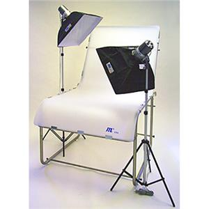 Optimal DL 320 Still Life Photo Table Kit with Monolights, Softboxes, Table & Light Stands Product photo