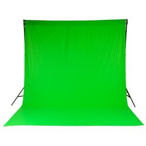 Unique 10x12' Chromakey Curtain Muslin Background, Green Product photo