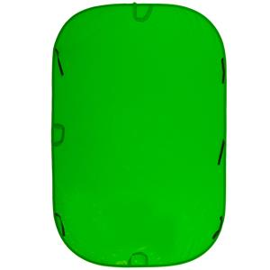 Optimal 6x9' Chromakey Collapsible Disc Background, Green Product photo