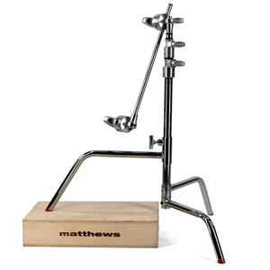 "Information about 20""  Stand with Sliding Leg, Grip Head, Arm, Maximum Height 33"", Supports 22 lbs., Chrome. Product photo"
