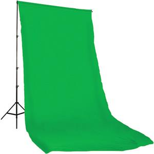 Choose Solid Color Series, 10x12' Dyed Muslin Background, Solid Chroma Green Color. Product photo