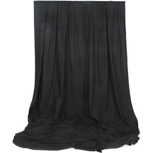 Longstanding Solid Color Series, 10x20' Dyed Muslin Background, Solid Black Color. Product photo