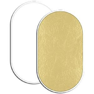 """Remarkable Litedisc 41x74"""" Collapsible Disc Reflector, Soft Gold / White Product photo"""