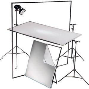 "Pretty Litepanel 39x72"" Aluminum Frame Kit with Soft Gold & Translucent Fabrics. Product photo"
