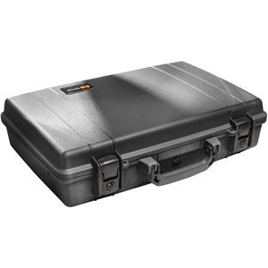 """Stunning Large Computer Watertight Hard Case with Foam Insert, for Notebook Computers up to 17"""" - Black Product photo"""