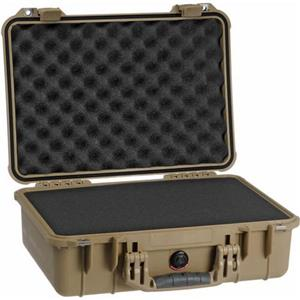 Pretty 1500 Watertight Hard Case with Foam Insert - Desert Tan Product photo
