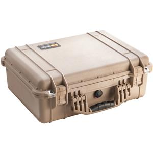 Popular 1520 Watertight Hard Case with Dividers - Desert Tan Product photo