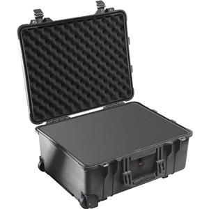 Select 1560 Watertight Hard Case with Cubed Foam Interior & Wheels - Black Product photo