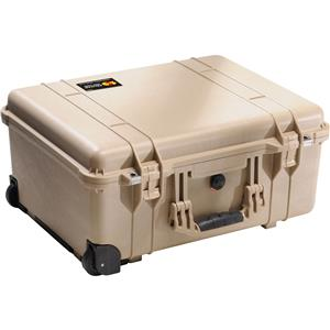 New 1560 Watertight Hard Case with Cubed Foam Interior & Wheels - Dessert Tan Product photo