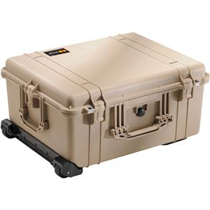 Stunning 1610 Watertight Hard Case with Cubed Foam & Wheels - Desert Tan Product photo