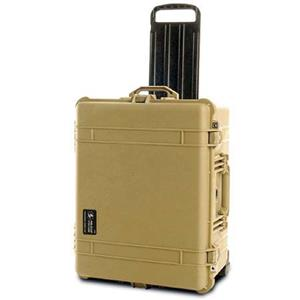 Popular 1620 Watertight Hard Case with Padded Divider Interior & Wheels - Desert Tan Product photo