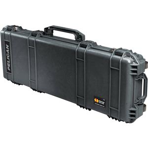 "User friendly 1720 Watertight 42"" Gun Case with Foam Insert & Wheels, Charcoal Black Product photo"