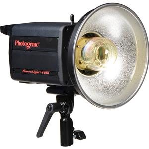 Cheap PowerLight 1250C , 500ws Monolight with UV Color Corrected Flashtube. (PL1250C) Product photo