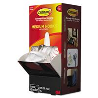Image of 3M Command General Purpose Medium Designer Hooks, 50 Hooks & Strips, 3lb Capacity, White