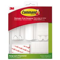 Image of 3M Command Assorted Picture Hanging Kit, White/Clear