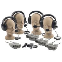 Anchor Audio PRO-540 Package with 2 x Dual Muff Headsets, 2 x Single Muff Headsets, BP-500M Master Belt Pack, 3 x Belt Packs, GC500 Gang Charger