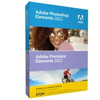 Image of Adobe Photoshop and Premiere Elements 2022 Student/Teacher Edition Software, DVD