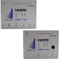 Image of Apantac HDMI HDBT-1-Ex Extender and HDBT-1-Rx Receiver Set with Ethernet, PoE, Extends Up to 330' Distance