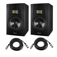 """Image of Adam Audio 2 Pack Professional T-Series T7V 7"""" 70W 2-Way Active Nearfield Monitor, Single - With 2 Pack 15' 8mm XLR Microphone Cable"""