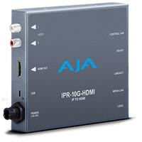 Image of AJA IPR-10G-HDMI Single Channel Bridging SMPTE ST 2110 Video and Audio to HDMI Converter