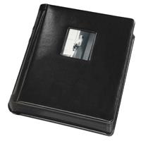 Flora Bella Series, Professional Library Bound Album with Window Cover, Medallion - Black Cover with Product image - 2059