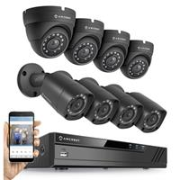 Image of Amcrest HD 1080P 8 Channel Video Security System with DVR & 2MP IP67 4x Outdoor Bullet and 4x Outdoor Dome Cameras
