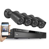 Image of Amcrest HD 1080P 8 Channel Video Security System with DVR & 4x 2MP IP67 Outdoor Bullet Cameras