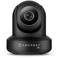 Image of Amcrest UltraHD 2K 3MP Indoor Wi-Fi IP Camera, Pan/Tilt, Black