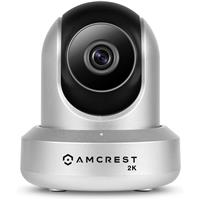 Image of Amcrest UltraHD 2K 3MP Indoor Wi-Fi IP Camera, Pan/Tilt, Silver