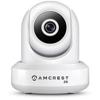 Image of Amcrest UltraHD 2K 3MP Indoor Wi-Fi IP Camera, Pan/Tilt, White