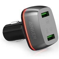 Image of Anker PowerDrive+ 2 42W with Quick Charge 3.0 Dual USB Car Charger, Black